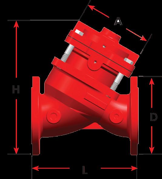 Kontrol Vanası 200 D Çift Kontrol Hazneli Vanalar Boyutları