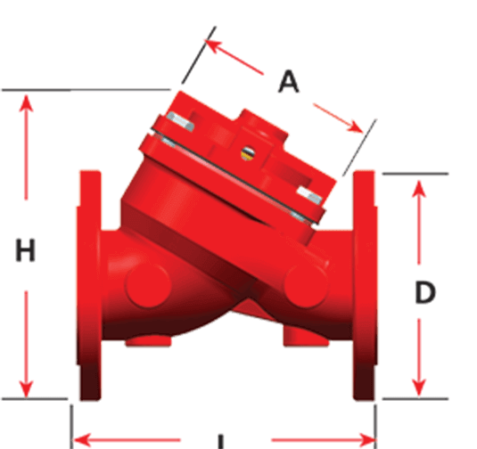 Kontrol Vanası Teknik 200 Seri Tek Kontrol Hazneli Vanalar Boyutları