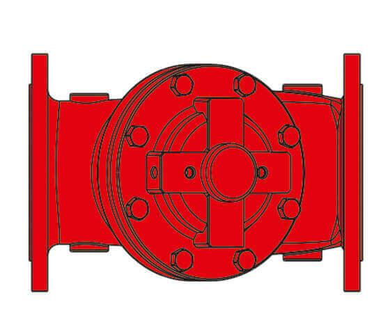 Yangın Vanaları Deluj Vana Yangınla Mucadele Kontrol Vanaları Teknik Cizim-3